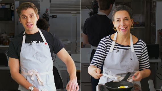 Queer Eye's Antoni Porowski Tries to Keep Up with a Professional Chef