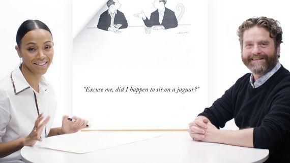How To Write A New Yorker Cartoon Caption: Zach Galifianakis & Zoe Saldana Edition