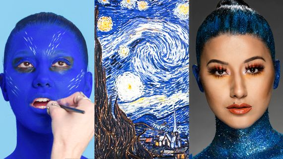 3 Makeup Artists Turn a Model into a Van Gogh Painting