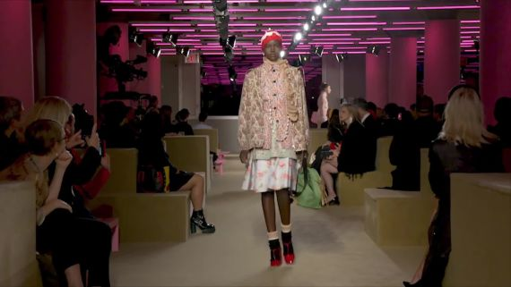 Watch Adut Akech's Pasta-Filled Pre-Prada Show Routine