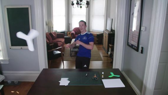 How to Make and Throw an Indoor Boomerang