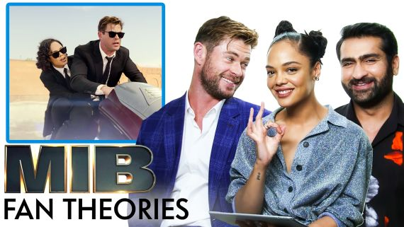 Men in Black Fan Theories with Chris Hemsworth, Tessa Thompson and Kumail Nanjiani