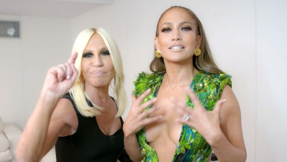 Watch Jennifer Lopez Tell the Story of Her Green Versace Dress
