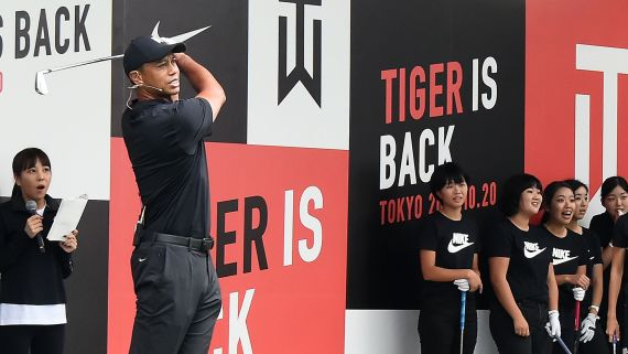Tiger Woods Returns to Japan
