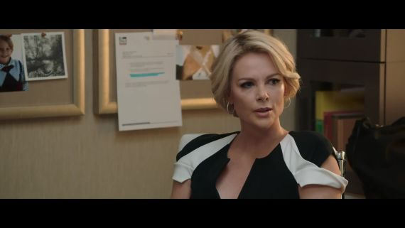 """Bombshell"" Clip: Charlize Theron, as Megyn Kelly, Calls Bullshit on Fox News"
