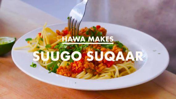 Hawa Makes Somali Pasta (Suugo Suqaar)