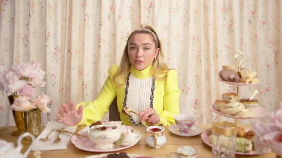 Florence Pugh's Appetite for Life, and English Delicacies, Is Limitless