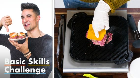 50 People Try To Grill a Burger