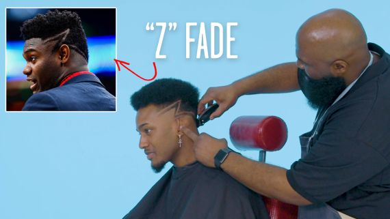 """Zion Williamson's """"Z"""" Fade Haircut Recreated by a Master Barber"""