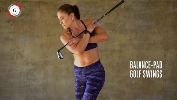 Next-Level Fitness: Balance-Pad Golf Swings