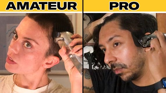 Pro Barber Teaches Amateurs How to Shave Their Heads