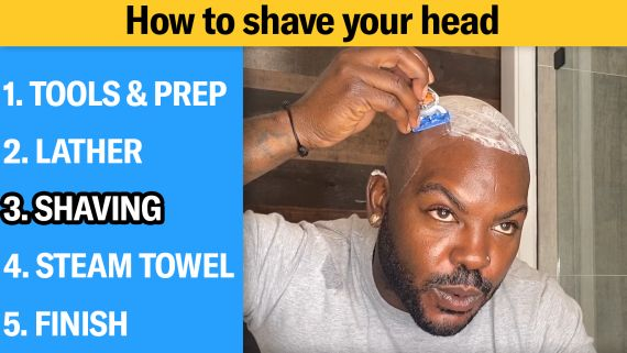 How to Shave Your Head Completely Bald (5 Step Tutorial)