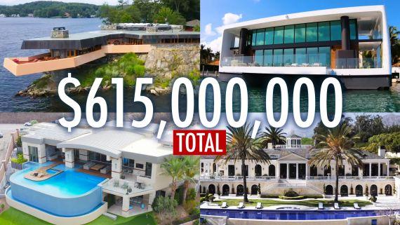 Inside 14 Spectacular Mansions Worth $615 Million