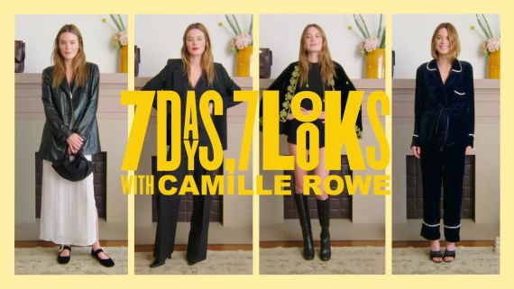 Camille Rowe Reveals Her French Girl Style Secrets In the Latest Episode of 7 Days 7 Looks
