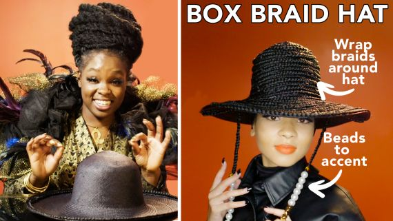 Making A Box Braid Hat With Celeb Hairstylist Susy Oludele | Next Level Looks