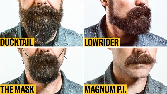 8 Facial Hair Styles on One Face, From Full Beard to Clean Shaven