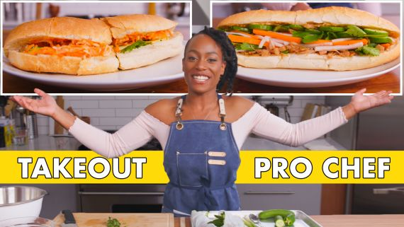 Pro Chef Tries to Make Bánh Mì Faster Than Delivery