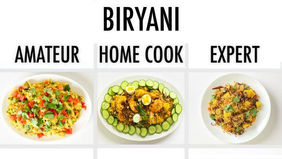 4 Levels of Biryani: Amateur to Food Scientist