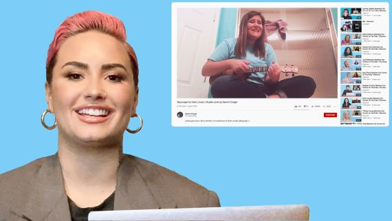Demi Lovato Watches Fan Covers on YouTube and TikTok