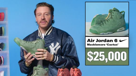 Macklemore Shows Off His Sneaker Collection