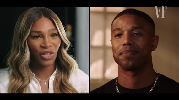 Michael B. Jordan & Serena Williams in Conversation at Vanity Fair Cocktail Hour, Live!