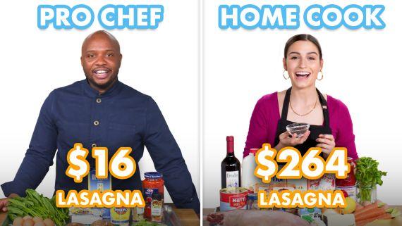$264 vs $16 Lasagna: Pro Chef & Home Cook Swap Ingredients