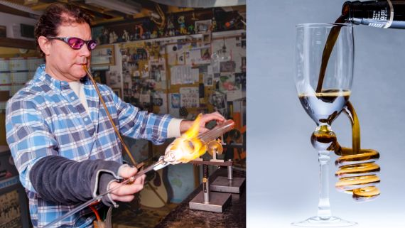 Scientific Glass Blower Makes Beer Glasses
