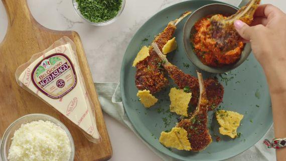 Asiago Breaded Lamb Chops