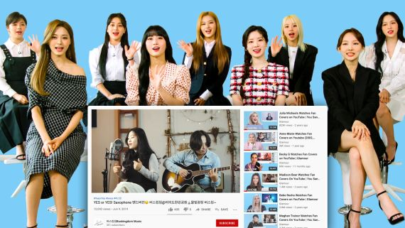 TWICE Watches Fan Covers on YouTube