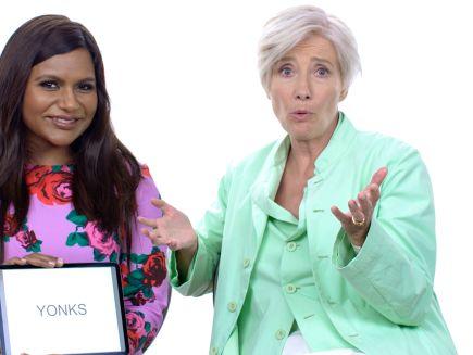 Watch Slang School Emma Thompson And Mindy Kaling Teach You Posh British Slang Vanity Fair Video Cne