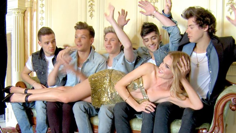 Go behind the scenes of one direction s photo shoot with rosie