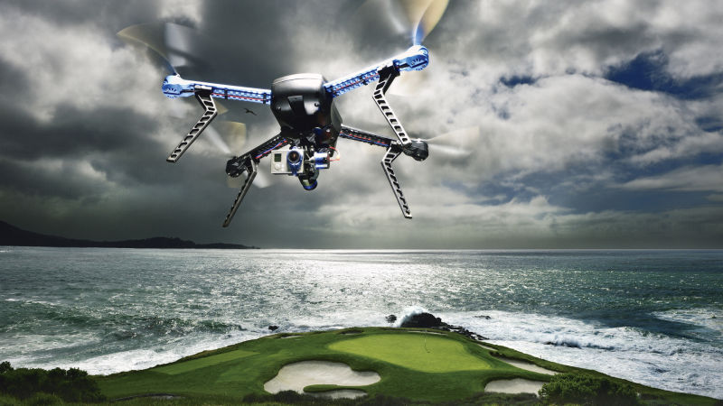 Drones Over Pebble Beach - Golf Digest Videos - The Scene