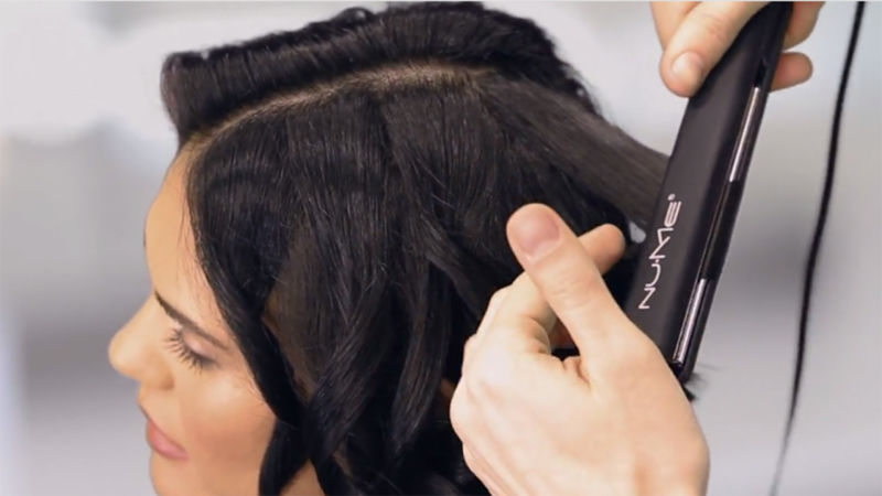 How To Curl Short Hair With A Straightener Glamour
