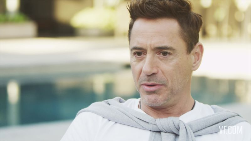 Robert Downey Jr. And His Son Exton Play By The Pool