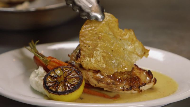 Watch Cook Like A Pro Perfectly Crispy Chicken Skin From Chef Amanda Freitag Bon App 233 Tit