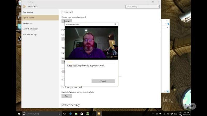 Ars demos Microsoft Hello facial recognition