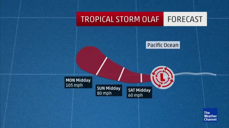 Tropical Storm Olaf Named - The Weather Channel Videos - The Scene