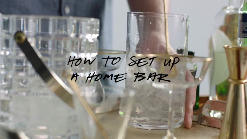 Watch Very Entertaining How To Set Up A Home Bar Bon Appetit