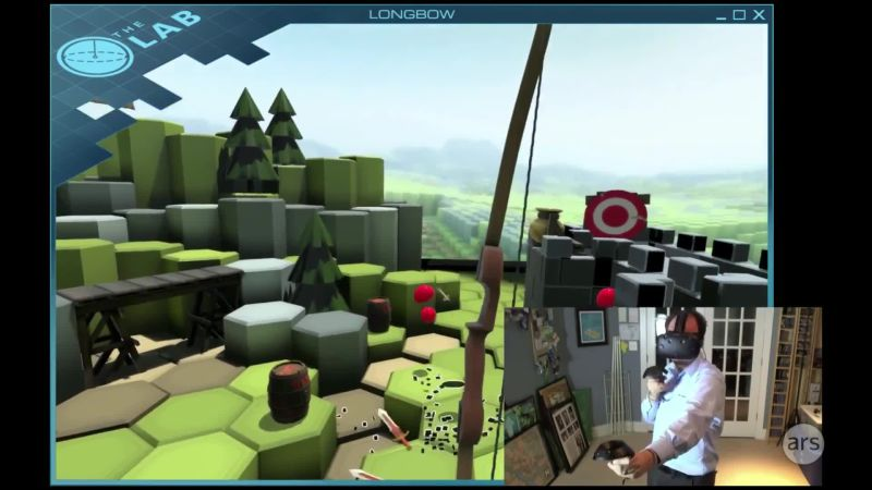 HTC Vive game demo: The Lab - Longbow