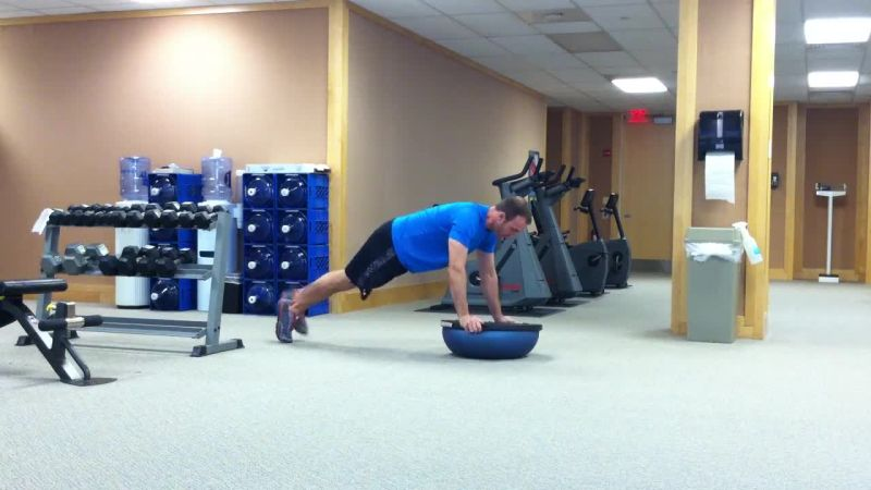 Stability Exercise Using A Bosu Ball