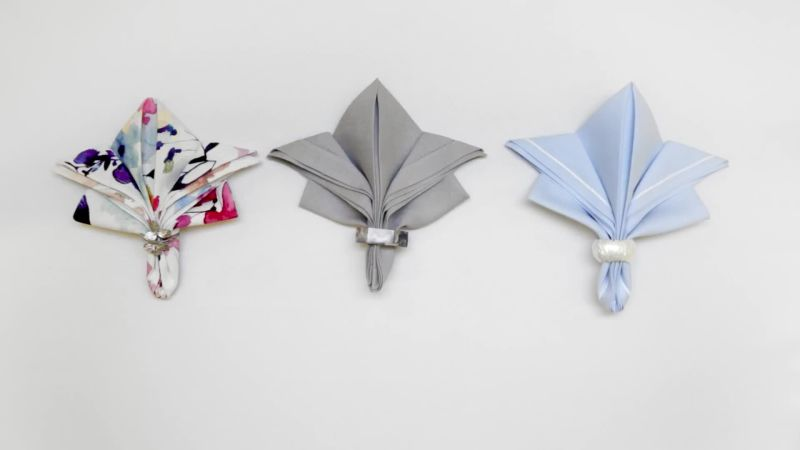 Watch 6 Easy Napkin Folds For Any Dinner Party