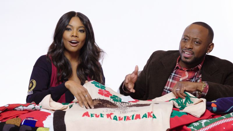 Almost Christmas Cast.Horrible Holiday Sweater Review With Gabrielle Union