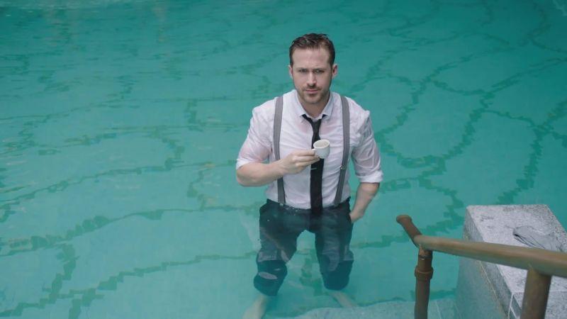 Watch Watch Ryan Gosling Go Swimming In His Ralph Lauren