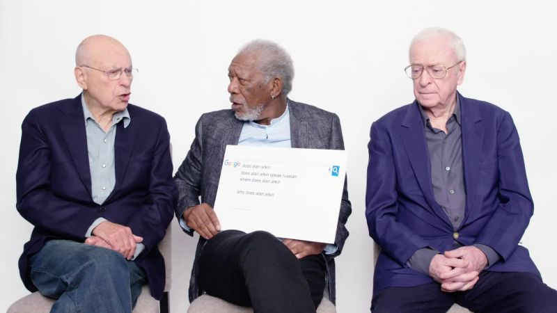 Morgan Freeman, Michael Caine, and Alan Arkin Answer the Web's Most  Searched Questions