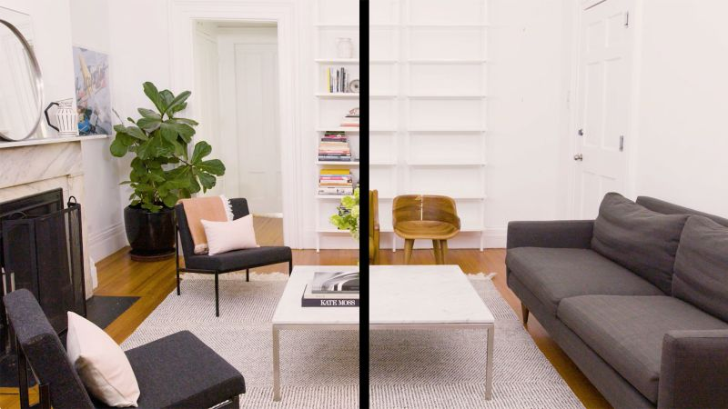 Drastic Living Room Makeover: Watch A Living Room Makeover That Takes Just One Afternoon
