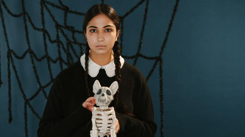 Watch Quick Pretty Wednesday Addams Makeup Tutorial Teen Vogue