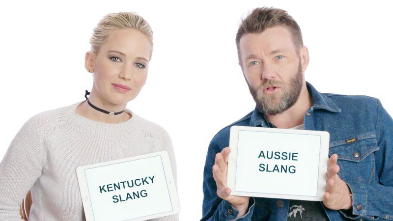 Watch Slang School | Jennifer Lawrence and Joel Edgerton Teach Kentucky and  Aussie Slang | Vanity Fair Video | CNE