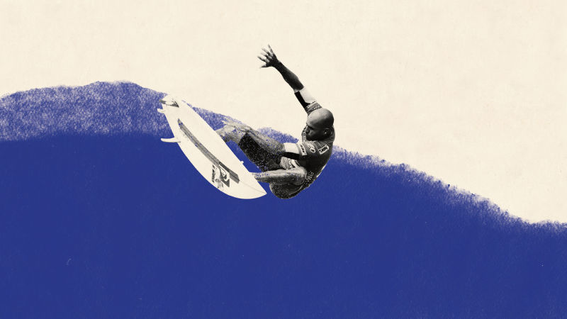 Surfing On Kelly Slater S Machine Made Wave