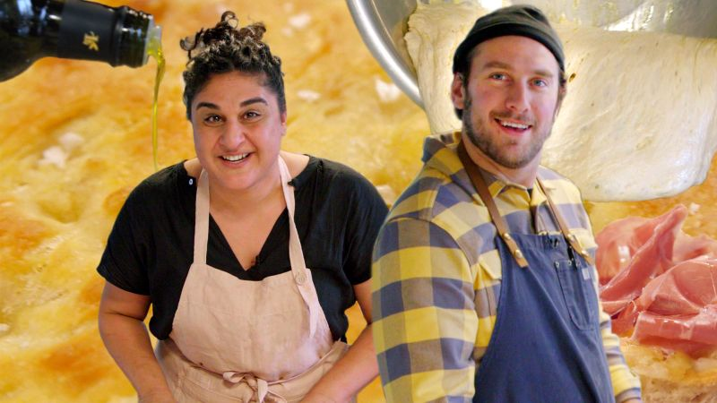 Brad Makes Focaccia Bread with Samin Nosrat