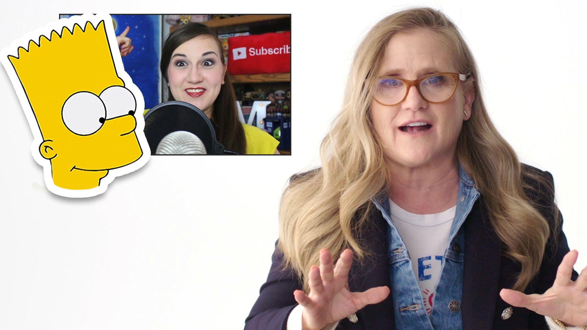 Watch Reviews Nancy Cartwright Bart Simpson Reviews Impressions Of Her Voices Vanity Fair Video Cne Vanityfair Com Vanity Fair